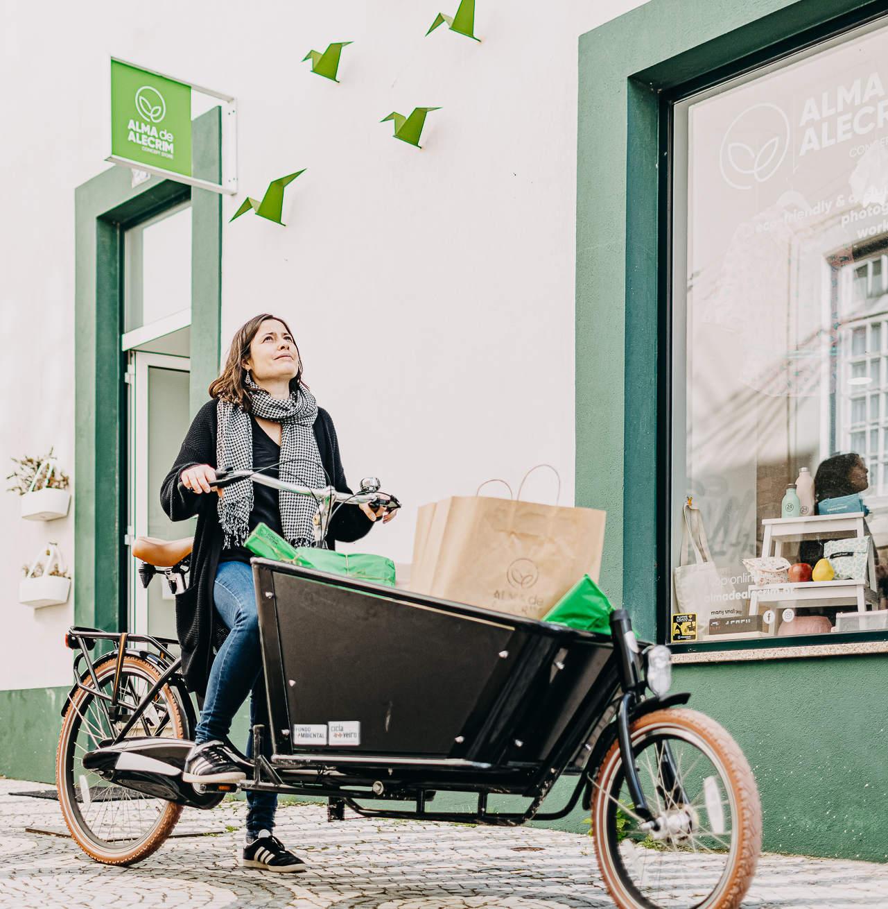 Bicicletas de Carga com o Comércio Local